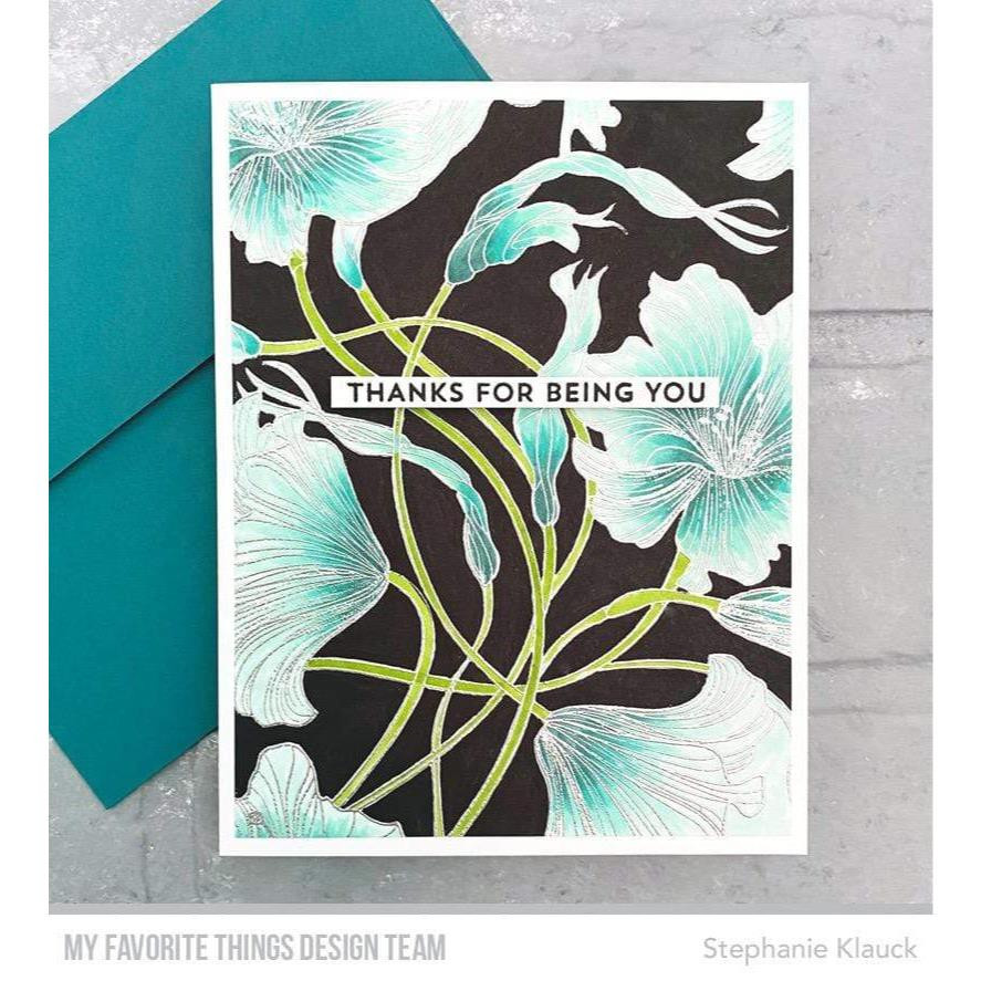 Harmonious Hibiscus Background, My Favorite Things Cling Stamps - 849923035672
