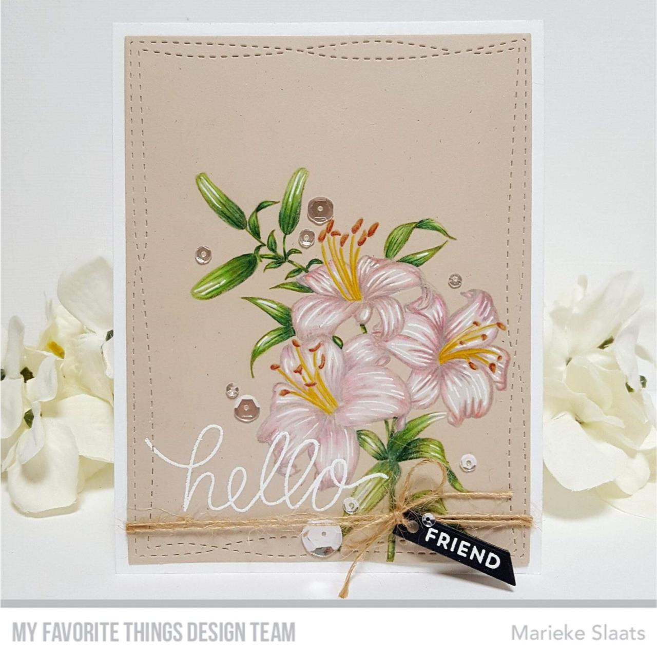 Lavish Lilies, My Favorite Things Cling Stamps - 849923035696