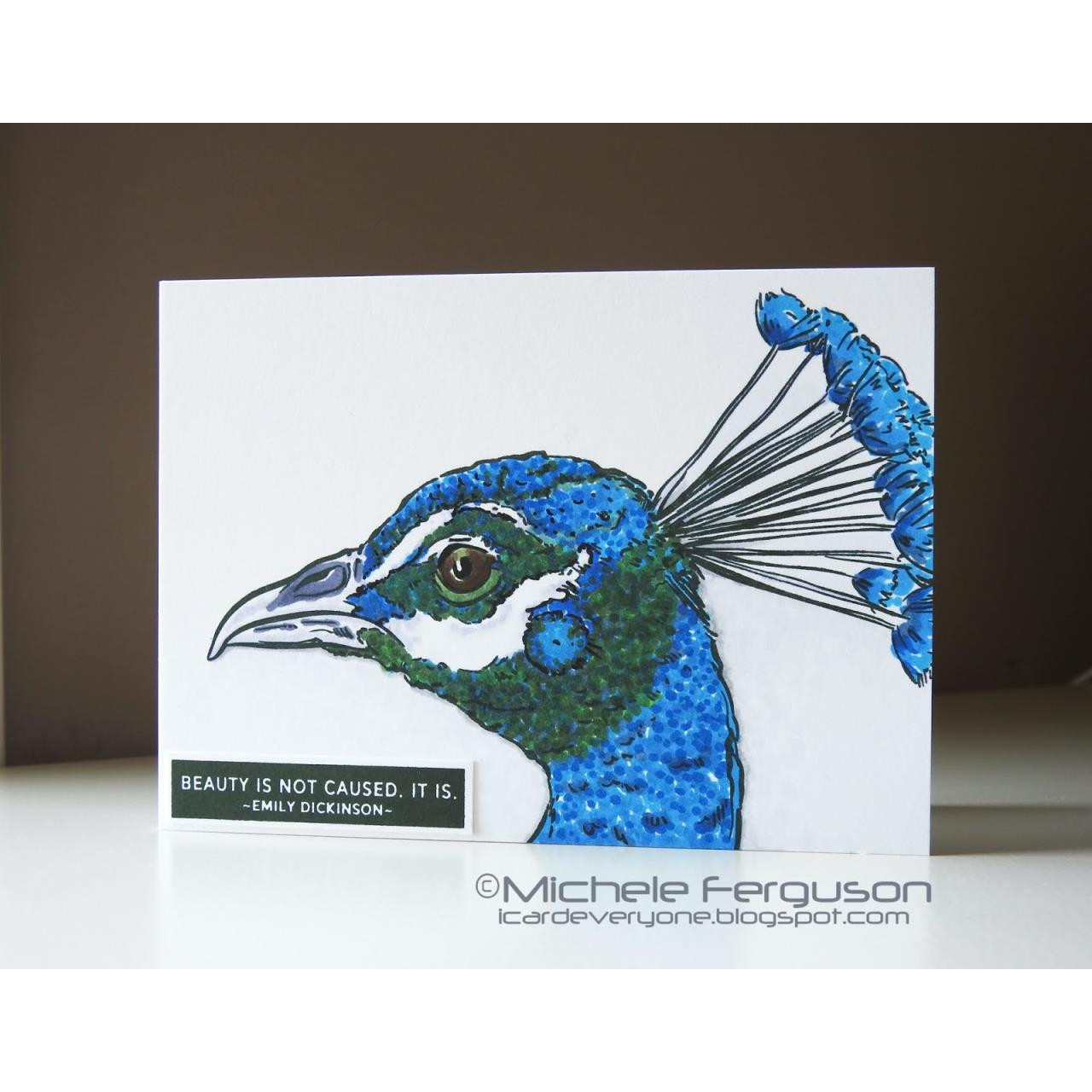 Hope Sings Peacock, Colorado Craft Company Clear Stamps -
