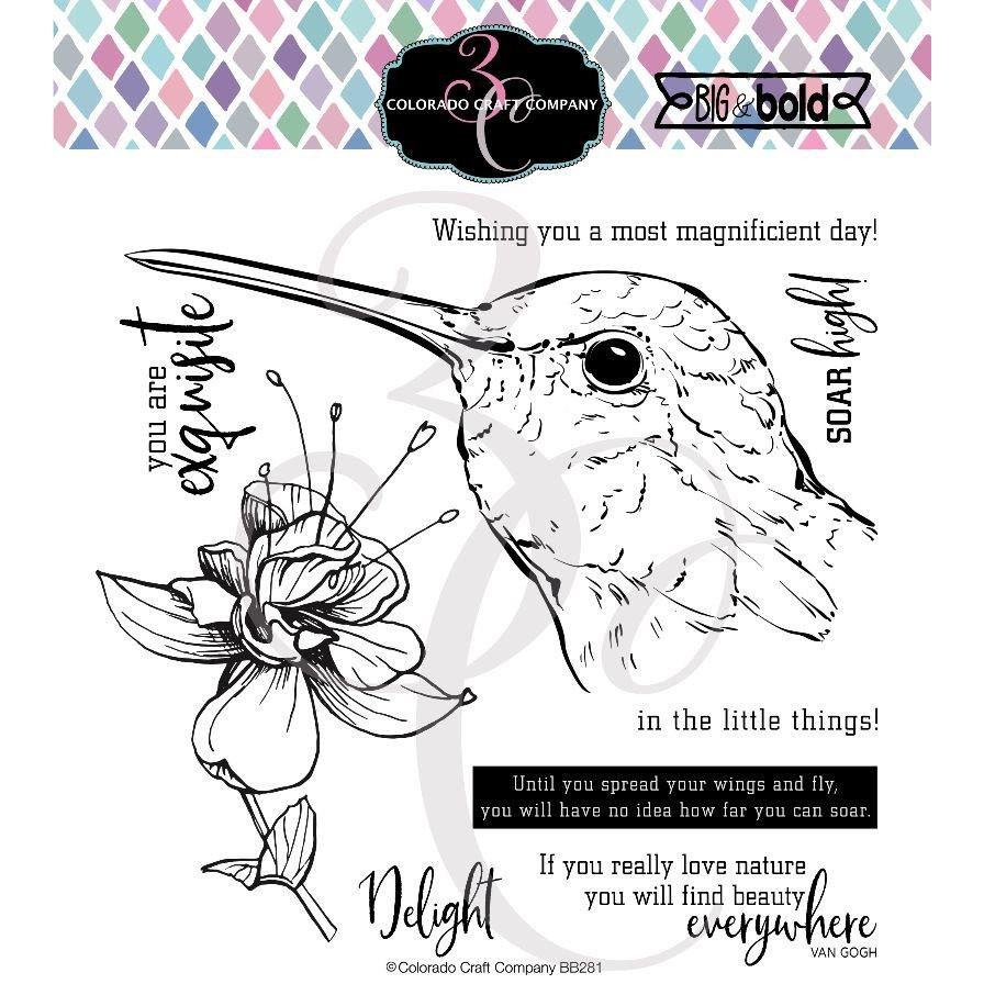 Hummingbird Delight, Colorado Craft Company Clear Stamps -