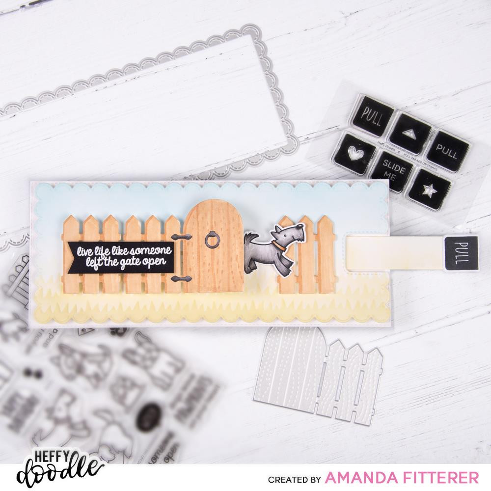 Pull Tab Add-On, Heffy Doodle Clear Stamps - 5060540222794