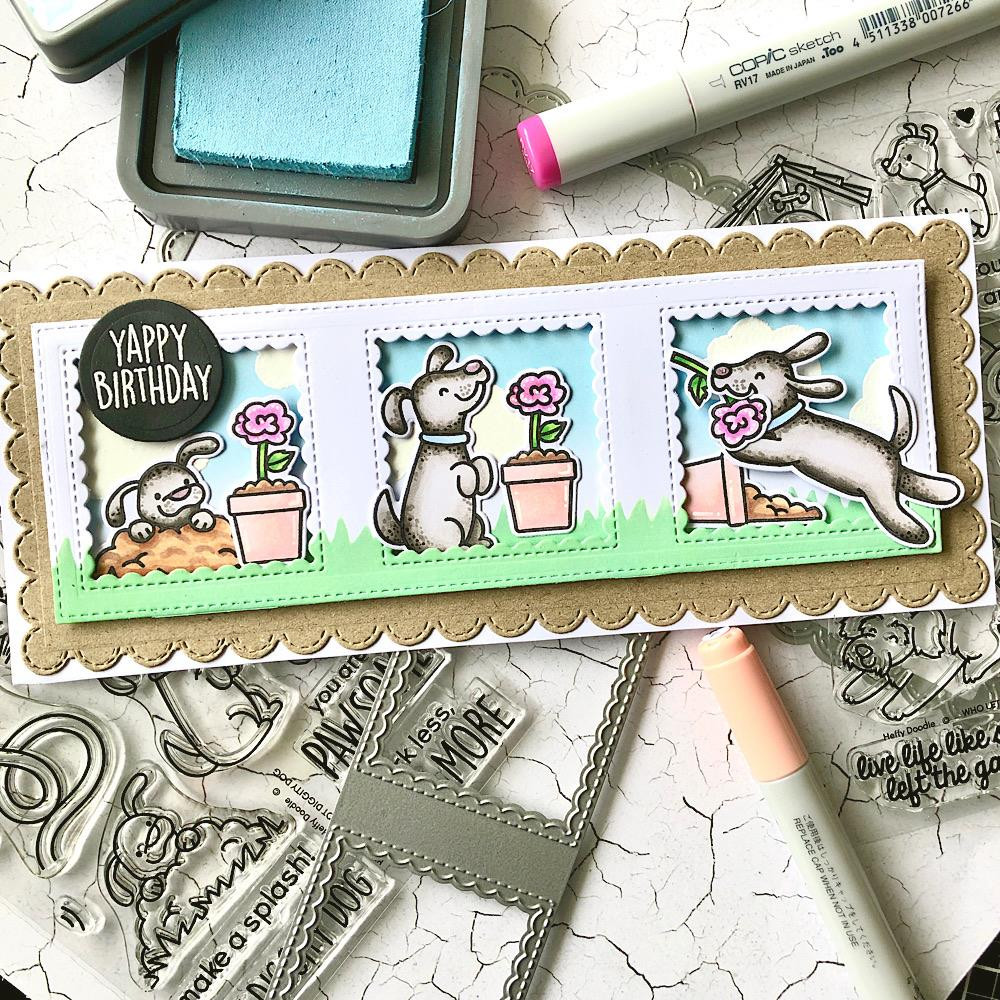 Hot Diggity Dog, Heffy Doodle Clear Stamps - 5060540222930