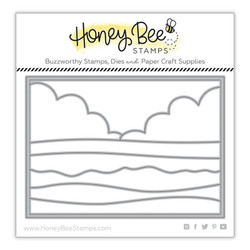 Beach Scene A7 Cover Plate, Honey Cuts Dies - 652827602990