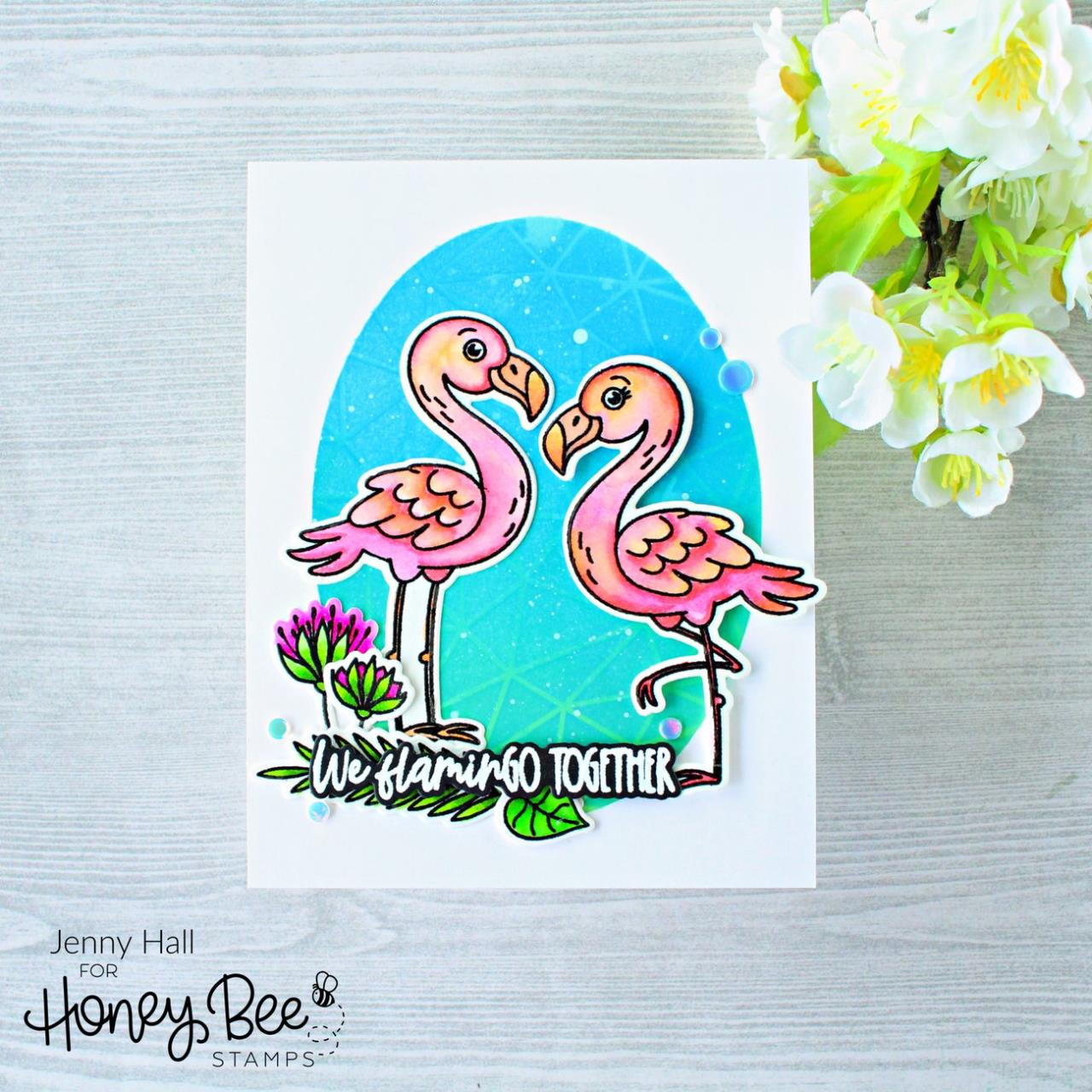 Birds of Paradise, Honey Bee Clear Stamps - 652827603287