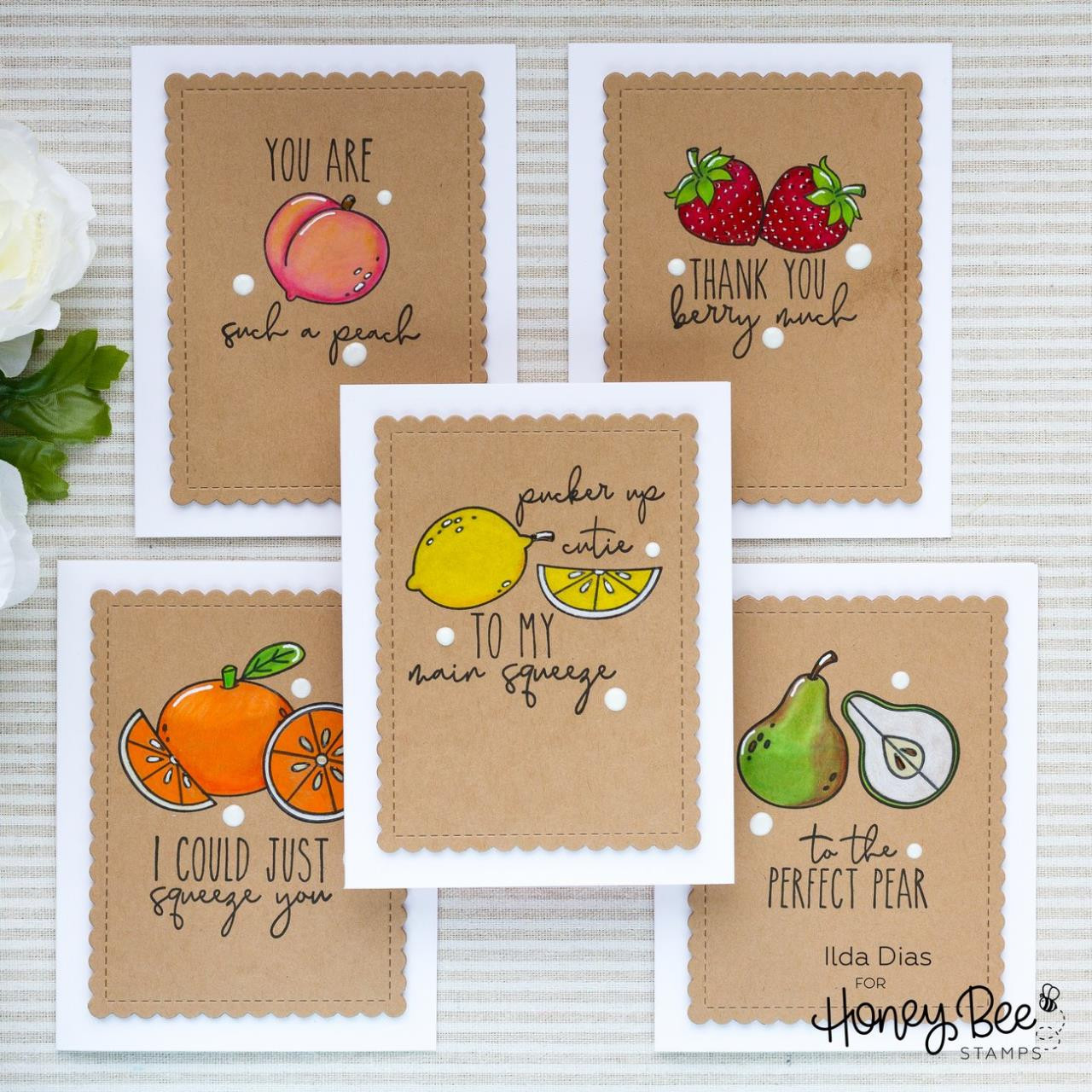 Freshly Picked, Honey Bee Clear Stamps - 652827603218