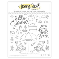 Hello Summer, Honey Bee Clear Stamps - 652827603188