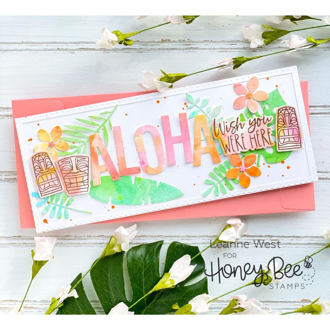 Luau, Honey Bee Clear Stamps - 652827603324