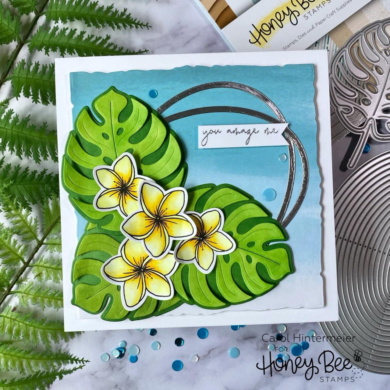 Paradise Blooms, Honey Bee Clear Stamps - 652827603270