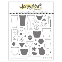 Raise a Glass, Honey Bee Clear Stamps - 652827603256