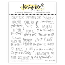 Tropical Tweets, Honey Bee Clear Stamps - 652827603294
