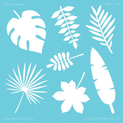 Tropical Leaves, Honey Bee Stencils - 652827603454