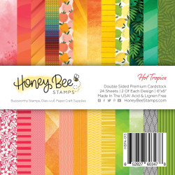 Hot Tropics, Honey Bee 6 X 6 Paper Pad - 652827603478