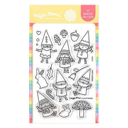 Happy Gnomes, Waffle Flower Clear Stamps - 780348639000
