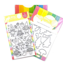 Happy Gnomes, Waffle Flower Stamp & Die Combo - 780348639024