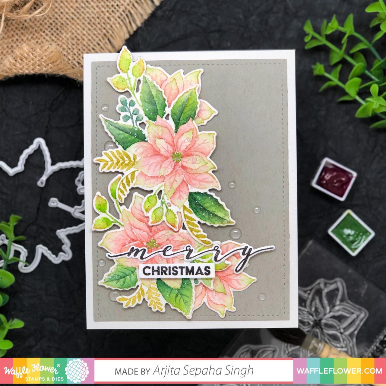 Poinsettia, Waffle Flower Dies - 780348639130