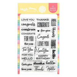 Classic Sentiments, Waffle Flower Clear Stamps - 780348639154