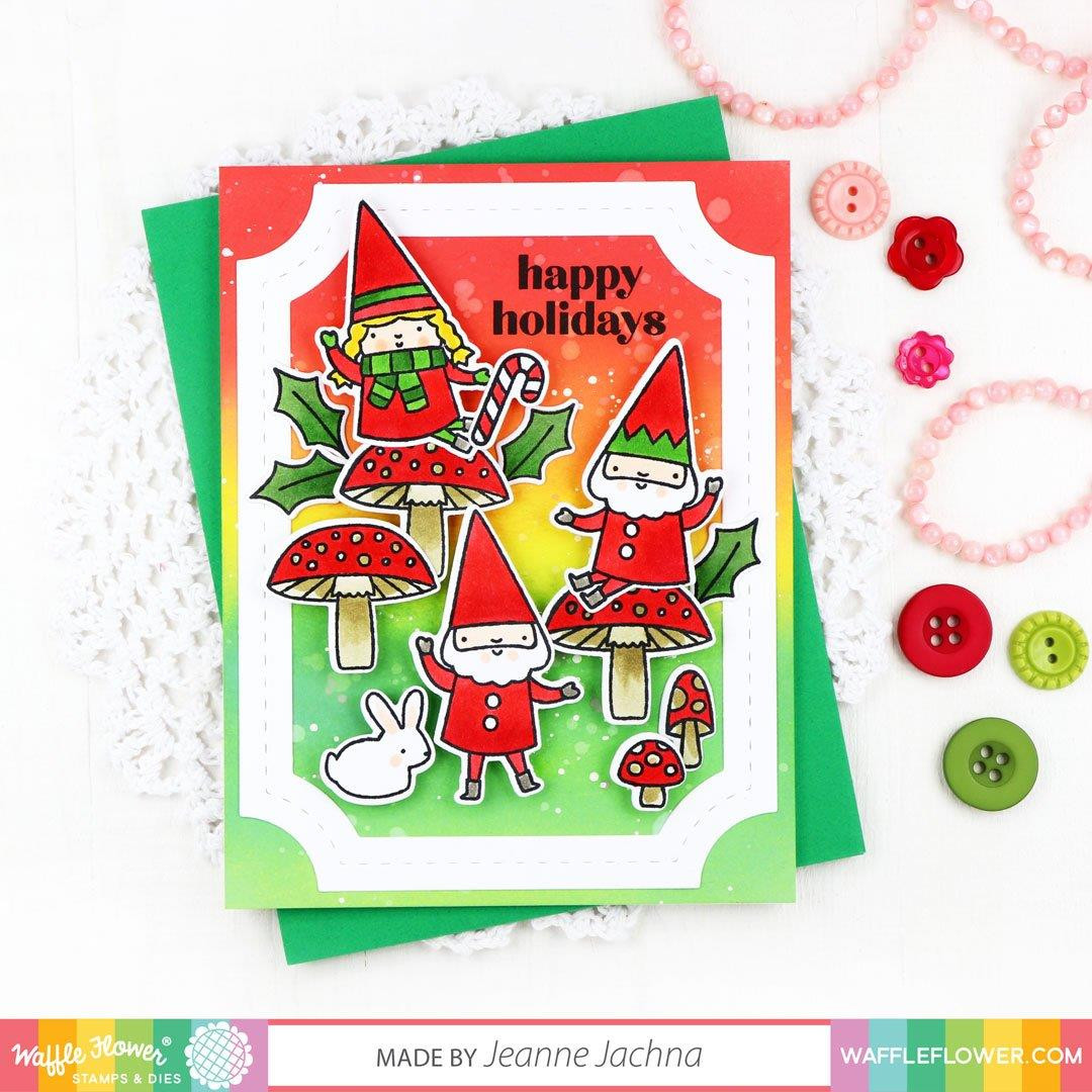 Classic Holiday Sentiments, Waffle Flower Clear Stamps - 780348639178