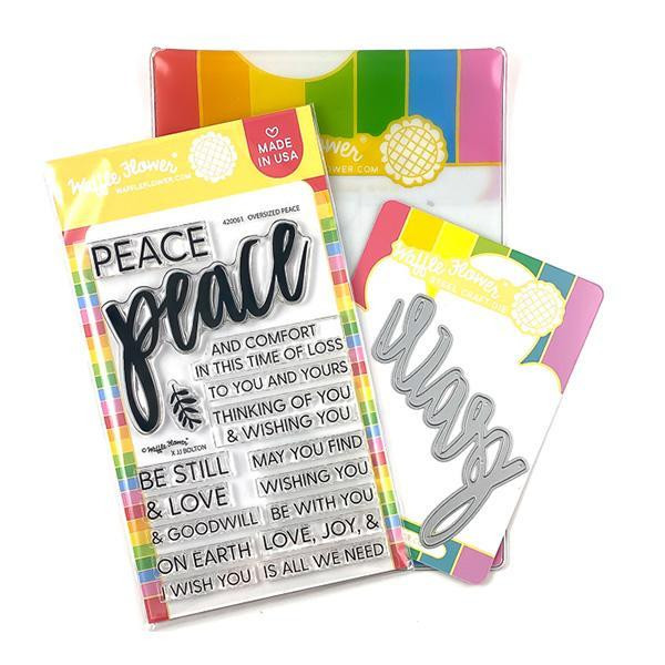 Oversized Peace, Waffle Flower Stamp & Die Combo - 780348639208