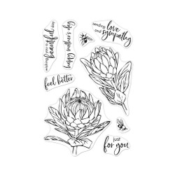Protea Flowers, Hero Arts Clear Stamps - 085700926959