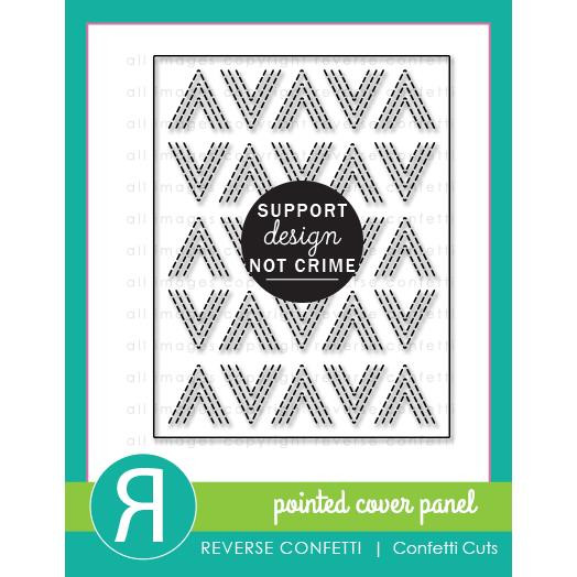 Pointed Cover Panel, Reverse Confetti Cuts -
