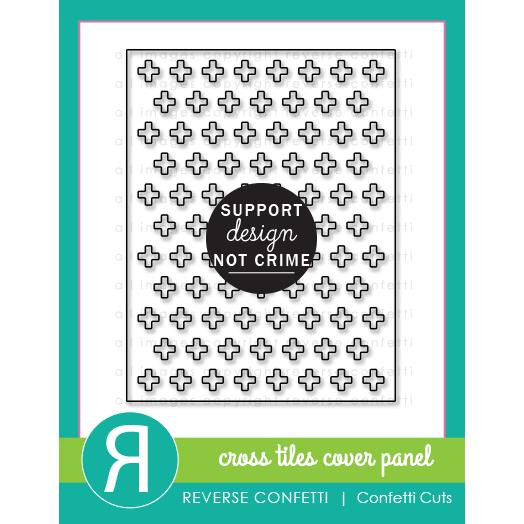 Cross Tiles Cover Panel, Reverse Confetti Cuts -