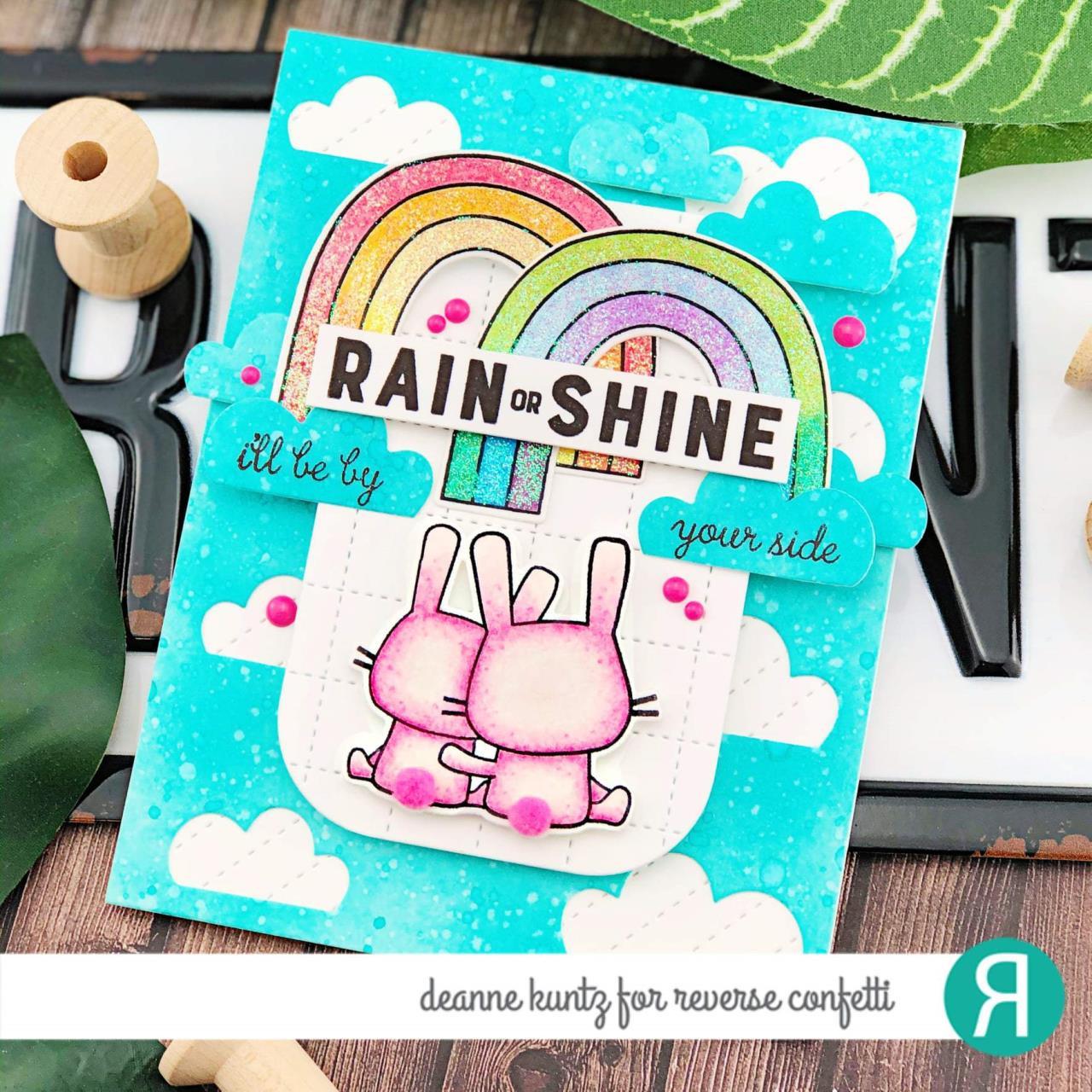 Cloudy Day Cover Panel, Reverse Confetti Cuts -