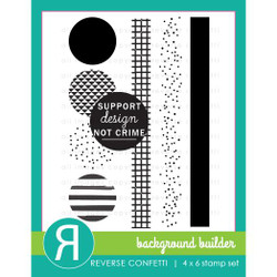 Background Builder, Reverse Confetti Clear Stamps -