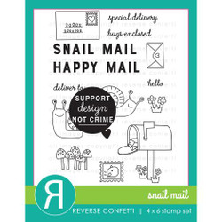 Snail Mail, Reverse Confetti Clear Stamps -