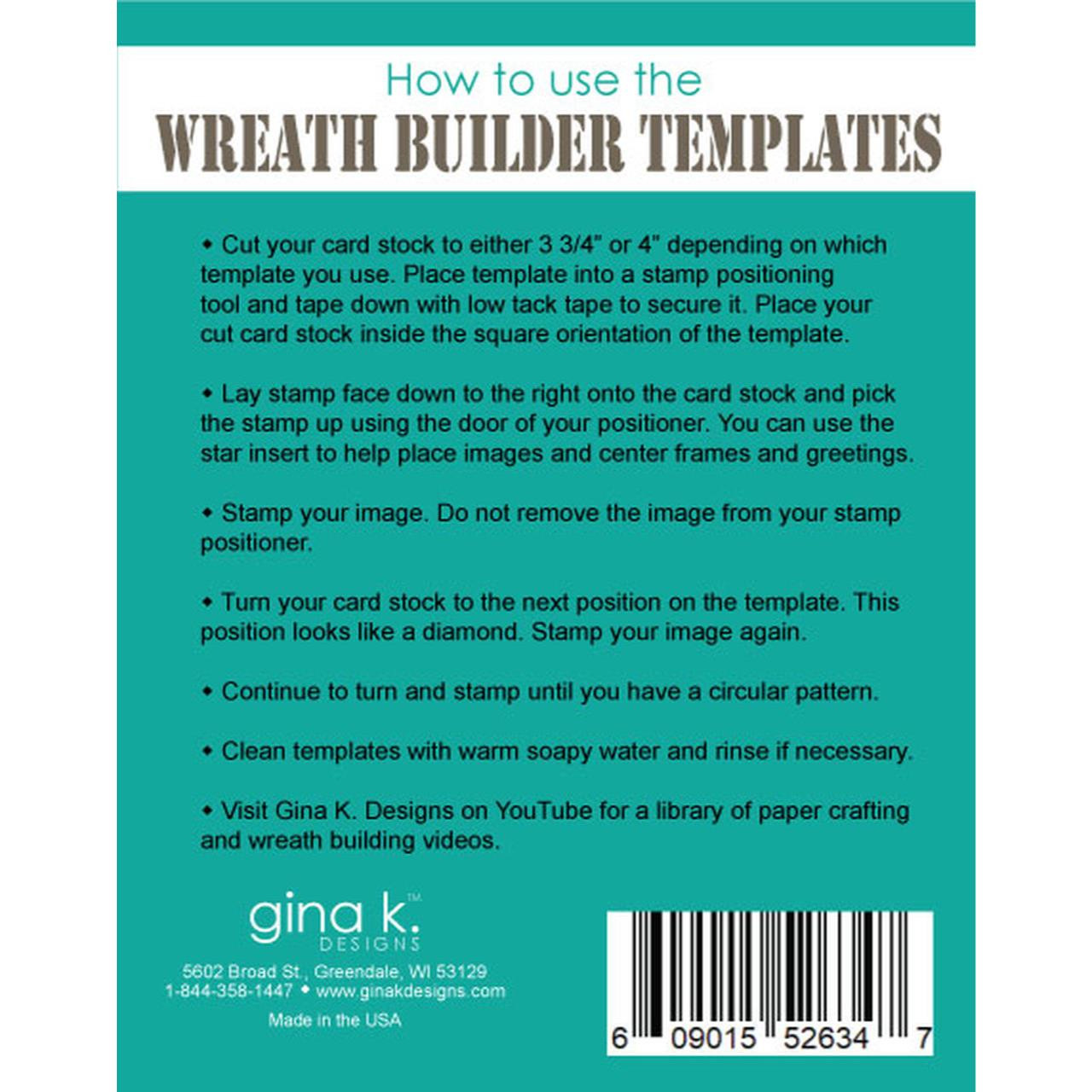Wreath Builder (NEW and IMPROVED), Gina K Designs Templates - 609015526347
