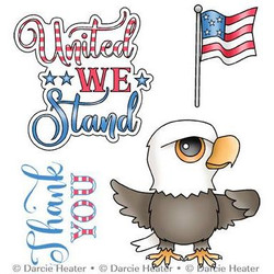 United We Stand, Darcie's Clear Stamps -