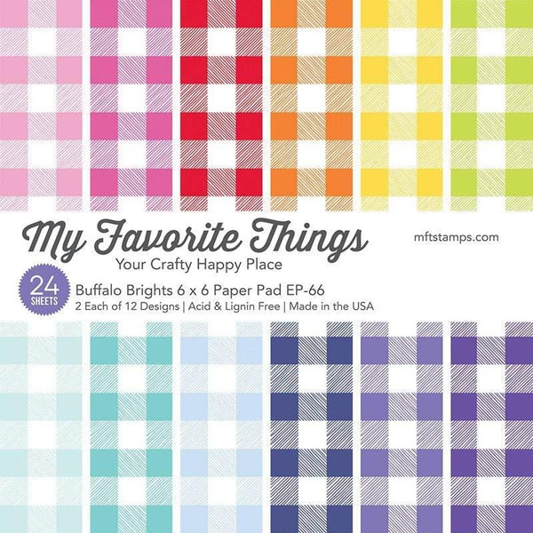 Buffalo Brights, My Favorite Things Paper Pack - 849923035702