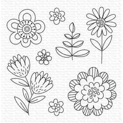 Fun Flowers, My Favorite Things Clear Stamps - 849923035788