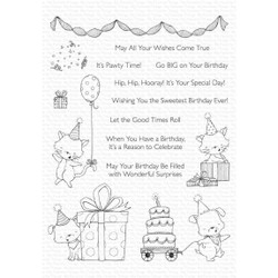 Pawty Time by Stacey Yacula, My Favorite Things Clear Stamps - 849923035733