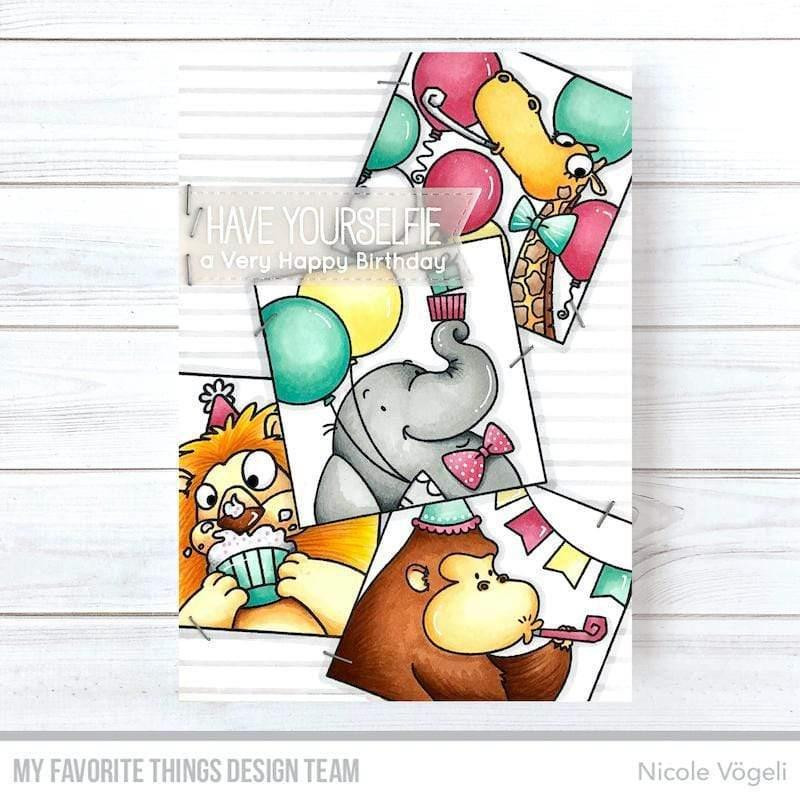 Picture Perfect Party Animals by Birdie Brown, My Favorite Things Clear Stamps - 849923035726