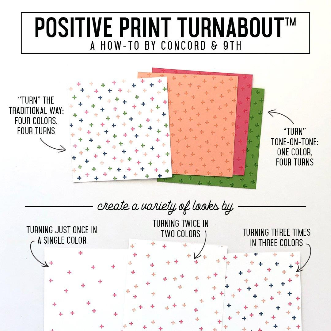 Positive Print Turnabout, Concord & 9th Clear Stamps - 717932697740