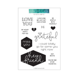 Hey Bestie, Concord & 9th Clear Stamps - 717932697733