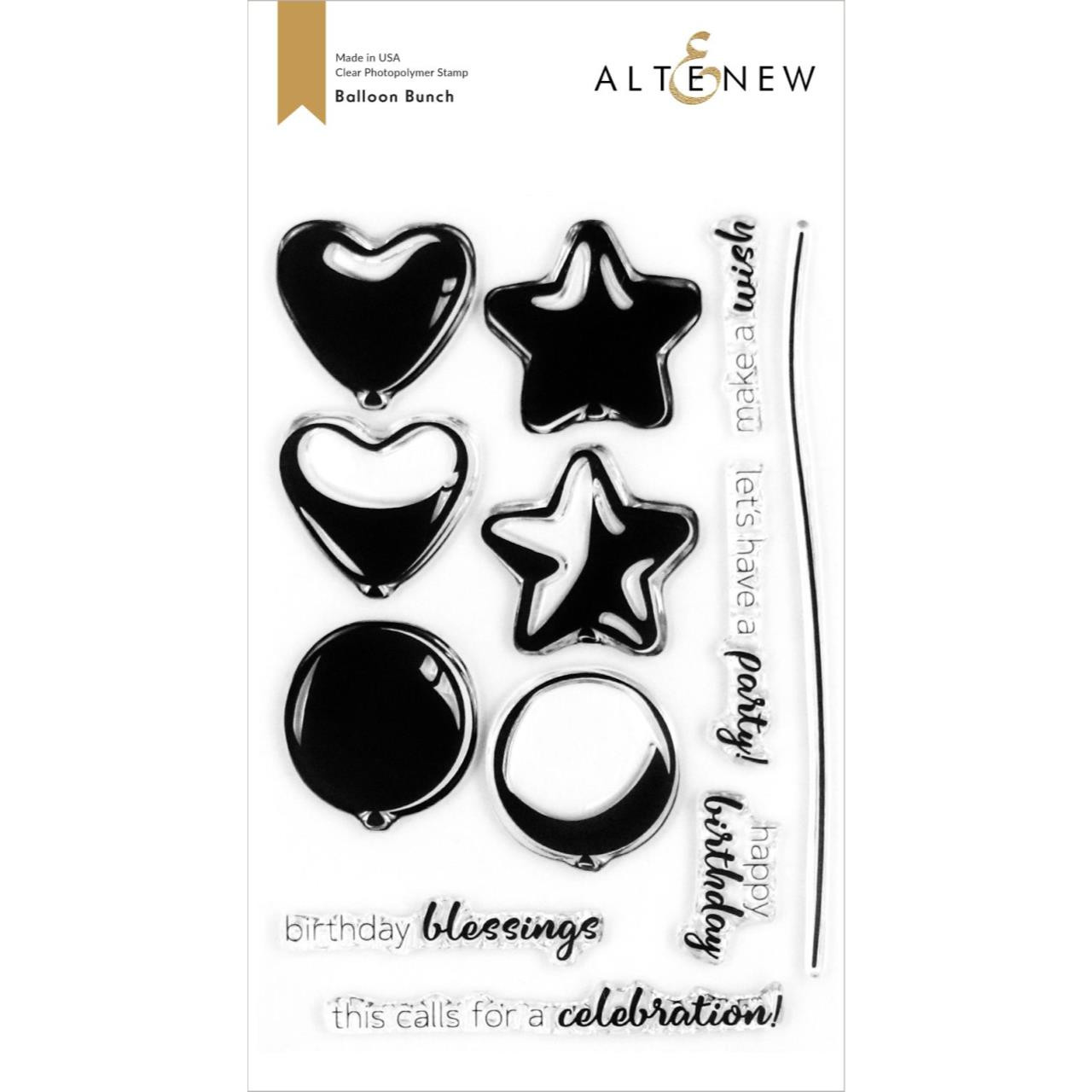 Balloon Bunch, Altenew Clear Stamps - 737787266212