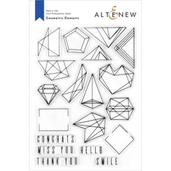 Geometric Elements, Altenew Clear Stamps - 737787266359