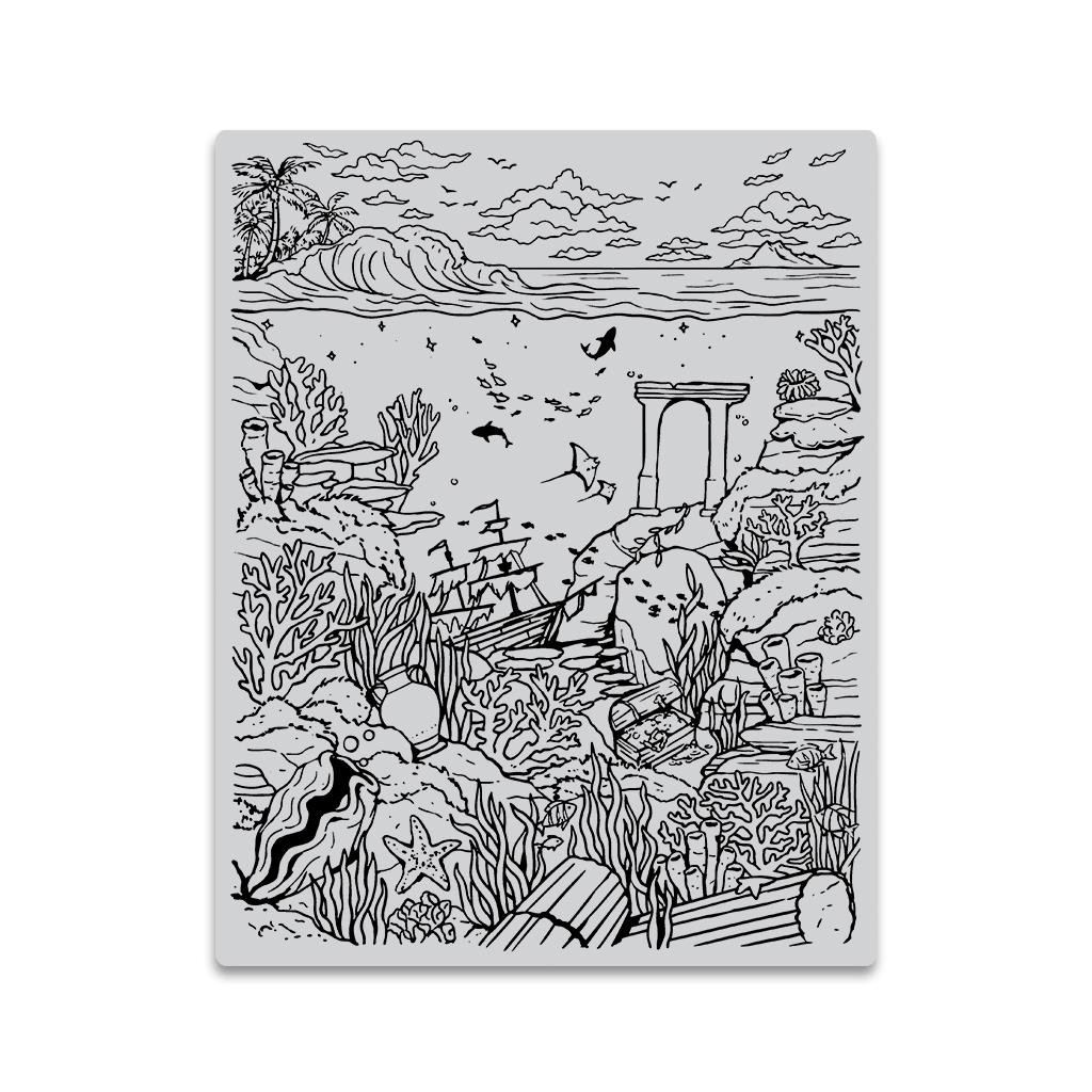 Deep Sea Background, Hero Arts Cling Stamps - 085700927482