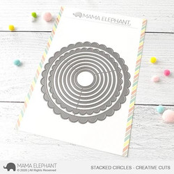Stacked Circles, Mama Elephant Creative Cuts -