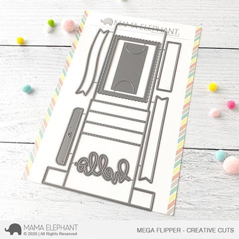 Mega Flipper, Mama Elephant Creative Cuts -