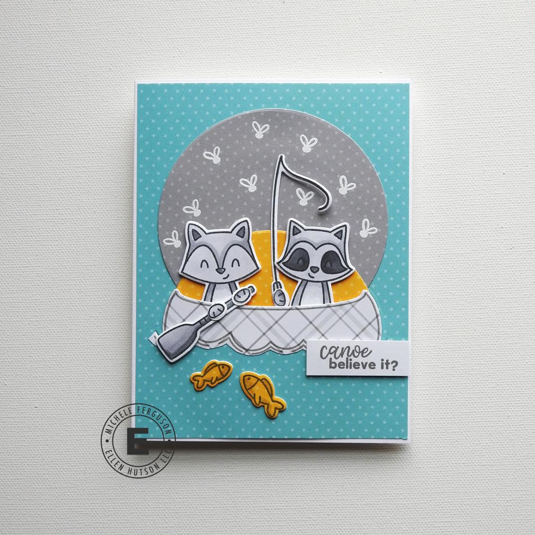 Peek-A-Boo Pals: Camp Wanna Stamp by Avery Elle, Summer of Stamping Stamp & Die Combo -