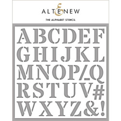 The Alphabet, Altenew Stencils - 737787265253