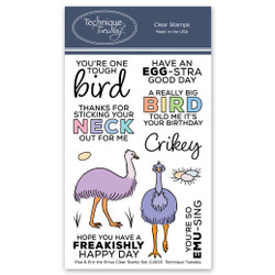 Elsa & Eric the Emus, Technique Tuesday Clear Stamps - 811784028599