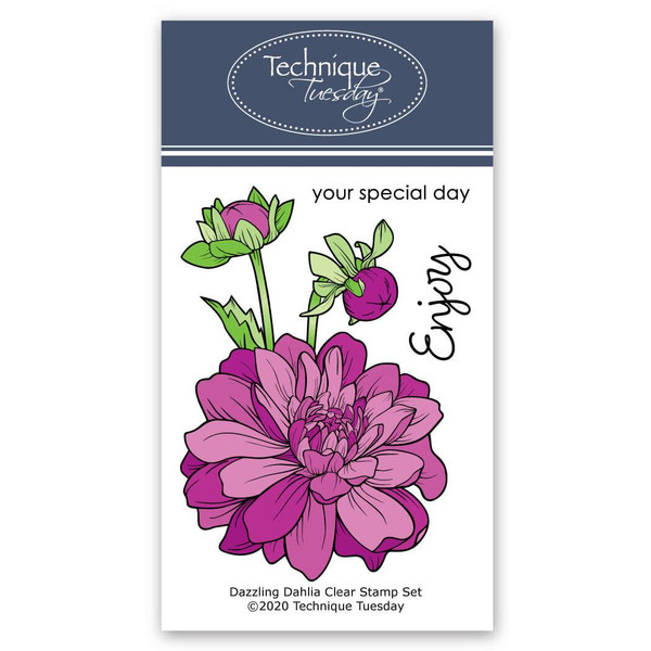 Dazzling Dahlia, Technique Tuesday Clear Stamps - 811784028612