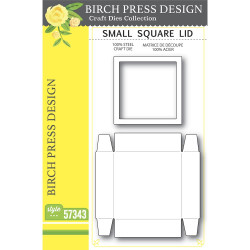 Small Square Lid, Birch Press Design Dies -