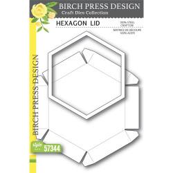 Hexagon Lid, Birch Press Design Dies -