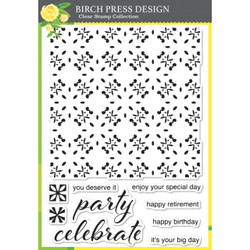Celebrate Tile, Birch Press Design Clear Stamps -