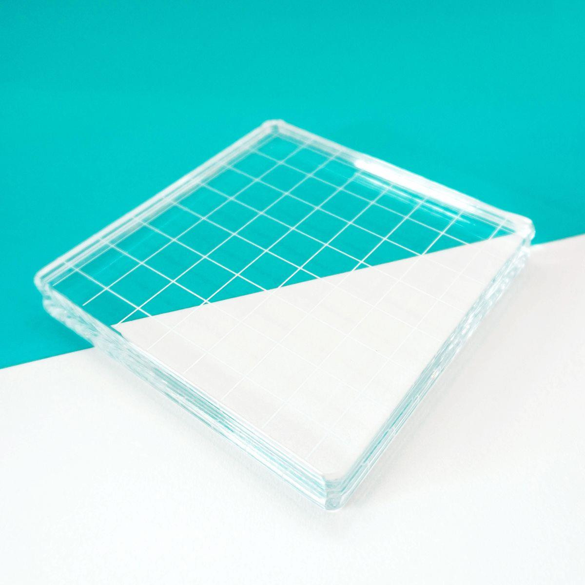 "Clear Acrylic Block 4.25"" X 4.25"" Square, Catherine Pooler -    819447027477"