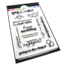 Tie the Knot Sentiments, Catherine Pooler Clear Stamps -     819447027392
